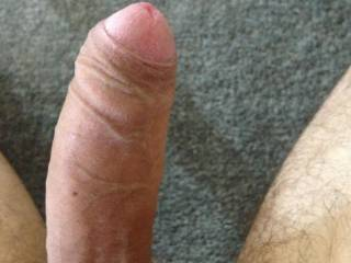I would love to roll your foreskin down with my mouth then suck it dry of cum