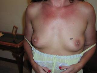 Would you let me rub massage oil all over your tits before I slip my hard cock between them and fuck them before cumming all over your lovely hard nipples?