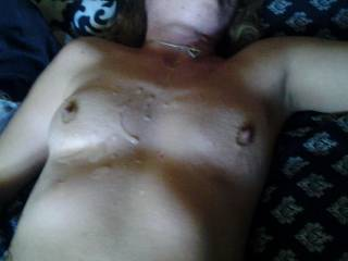 Cumming all over her