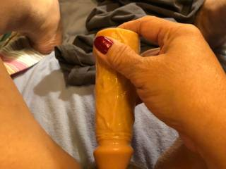 I need a man to remove that dildo and fuck me with his hard cock ? Do I have any takers?