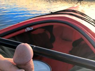 Got horny on the lake in my kayak