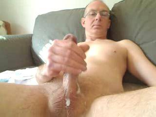 wow awesome load  What a waste nobody was there to sit on that cock or  suck it clean as you cummed  mmmmmmmmmmmm