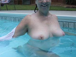 I'd like to float you around the pool as you are sitting on my cock