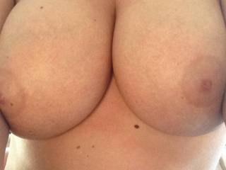 I wanna slide my throbbing cock up into your deeeep canyon of cleavage while you smush your massive, silky soft breasts around it, till stream after stream of hot, creamy cum erupts from my swollen balls and drenches your magnificent chest in a thick, gooey glaze. Mm mmm mmm