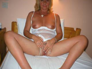 I don't know If I would be big enough, Let alone fit enough as you both may desire (Isn't that the typical fantasy of a mature couple, A young hot stud with a huge cock lol?). But I am sure she could take me from small and flacid to rock hard and ready for pounding in no time ;) especially rubbing/fingering her pussy as she sucked me...Would hubby join in or strictly a 1on1 encounter? I think you would enjoy the extra attention ;) Not to mention I think between the two of us we could keep your holes nicely stuffed until you were worn out and ready for a hot steamy shower with your newest lover (myself) followed up with me giving you a full body massage in return for a sexy back massage that turned into a reach around style handjob then into you sucking, riding, and sucking until I explode for giving you 110% earlier. What do you think?  XoxO  Deep.Throat.Her.