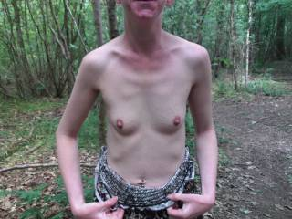 Oh yes, I'd love to cum across her in the woods.