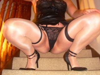 Id say so ,would like to pull your sexy underwear to one side and tongue your sweet pusy on the stairs ,we would both be in heaven x x x