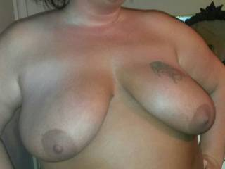 I'd love to suck on your beautiful tits sexy mmm