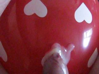 Masturbating with a heart-rpint balloon...a little Sunday morning fun ;)