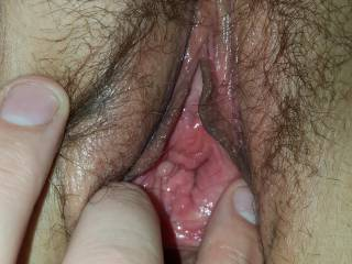 Wife's gorgeous pussy it tastes so good.