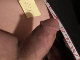 Who wants to help get my dick the rest of the way hard?