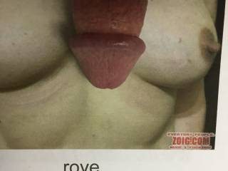 Showing Mrs Rove how my Cock would look Giving her A Titty Fuck