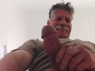 Letting you get a bird\'s-eye view would love to have you kneeling between my legs ready to suck my cock