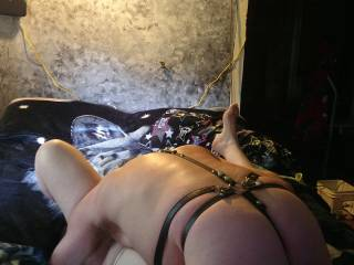 In a 69 position with my head (in my favorite place to put my face) inbetween her creamy  spread thighs along with my cock down her throat. If this isn\'t heaven then it\'s closest places to paradise both my head\'s could imagine.