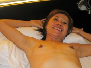 Kung\'s small tits and hard nipples...
