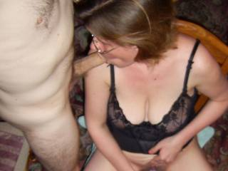 self pleasure with a side order of cock...hmmmm