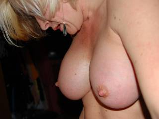 omg damn honey those are some sexy ass tits, shit i wanna titty fuck the shit out of you and cum all over them, and even in your mouth, they are perfect!!!!!!!!!