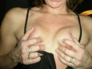 Nice tits. Do those nipples want to be squeezed?