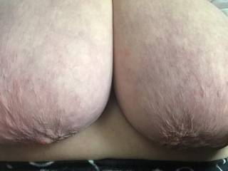 Wife\'s big tits, will engulf your cock quite easily