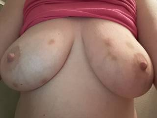 Another picture of Kiki's big bruised tits!