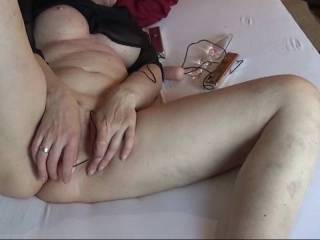I love watching BDSM-Videos and masturbate. So what you hear in the background is the video. This video is about 30 minutes after I start with masturbation and I allready had many orgasm. 