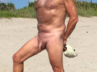 Posing at the nude beach !!