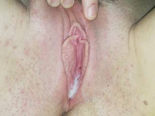 The results after fucking her tight pussy!!
