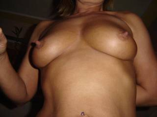 "I would like to give you the official ""Best Nipples"" award!! Your tits and nipples are FANTASTIC!!! Would love to suck and play with them!!"
