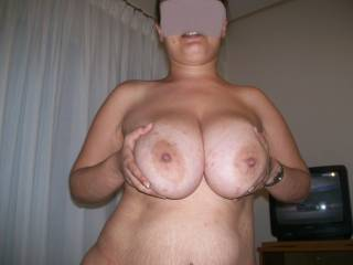 and now your making me horny, would love to slid my hard cock between those nice boobs