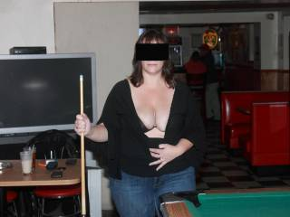 I need to go play pool more often, maybe I'll see a hot looking woman like your wife there.