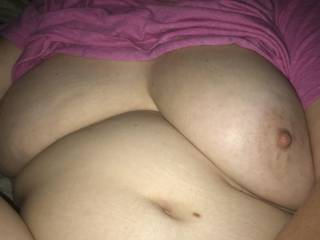 Right before I started sucking her nipples