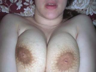 Love your big beautiful breast and those big nips would like to kiss and lick them also slide my cock between them