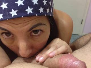 Mind if I suck that hot cock while she tends to those balls? ;-) ;-P