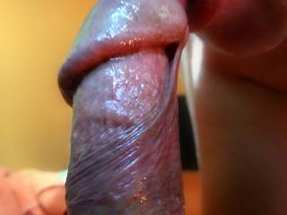 I'd love to feel your hot wet mouth swallow my hard cock.