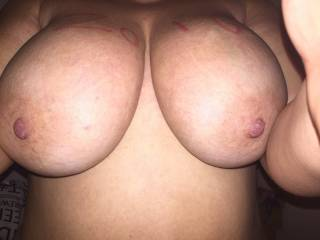 Oh god.. I want to lick, suck and bite your huge tits as you straddle me and ride my big cock, fucking us both to orgasmxx