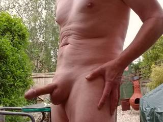 Smooth and nude outdoors