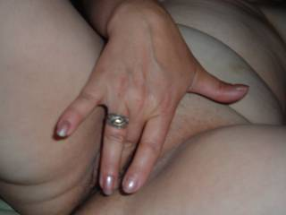 I love to rub my pussy while I\'m waiting for you