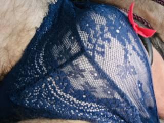 My wife's lacy panties. X