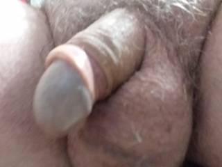 Foreskin back now, do you want to suck my dick? Or my balls?