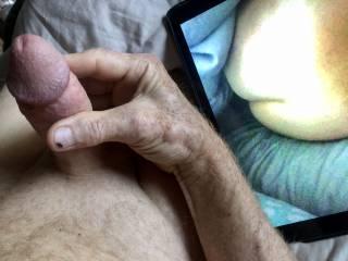Horny and masturbating.