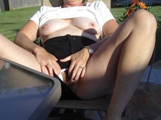 I'd suck on those nipples and eat that succulent pussy.