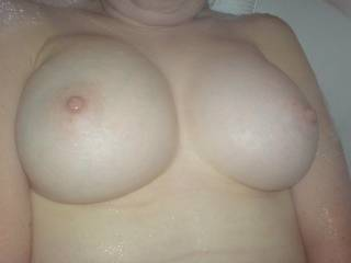 id love to fuck your sexy tits and covered them with a huge load of cum before i lick them up clean