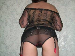 Mmm...I love those see-thru panties, they go perfectly with that sexy top.
