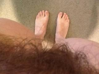 Love to eat my way threw all that hot hairy bush to get to your yummy cl it then fuck the hell out of it,love hairy pussy,nice feet also!!