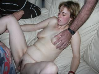 Lucky girl getting so much hot cock!
