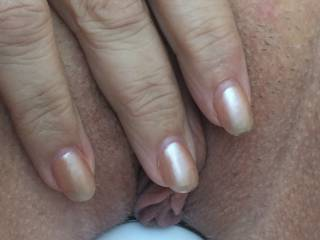 my wife loves the wand all the way in, stretching her wide. She moans and writhes for ages then spasms in orgasm