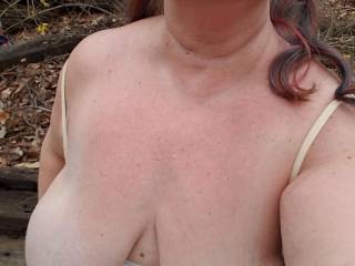 So ready for spring! Thank you to my wonderful Master who lets me take these pictures! Does anybody want to suck my nipples?