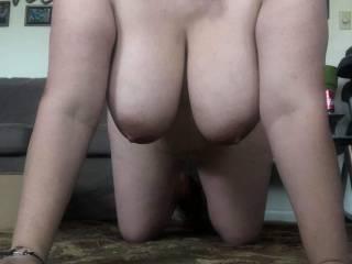 trouble\'s big tits hanging
