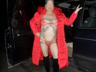 hi all another one of our night drives it is so cold you can hang your coat off my nipples comments welcome mature couple