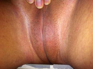 Mrs. Seeker's shaved smooth bald pussy!! Who wants a taste?